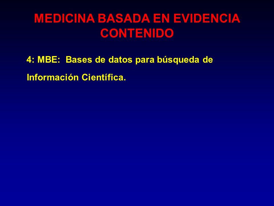 MEDICINA BASADA EN EVIDENCIA CONTENIDO
