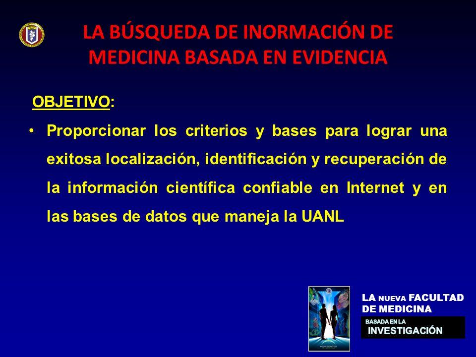 LA BÚSQUEDA DE INORMACIÓN DE MEDICINA BASADA EN EVIDENCIA