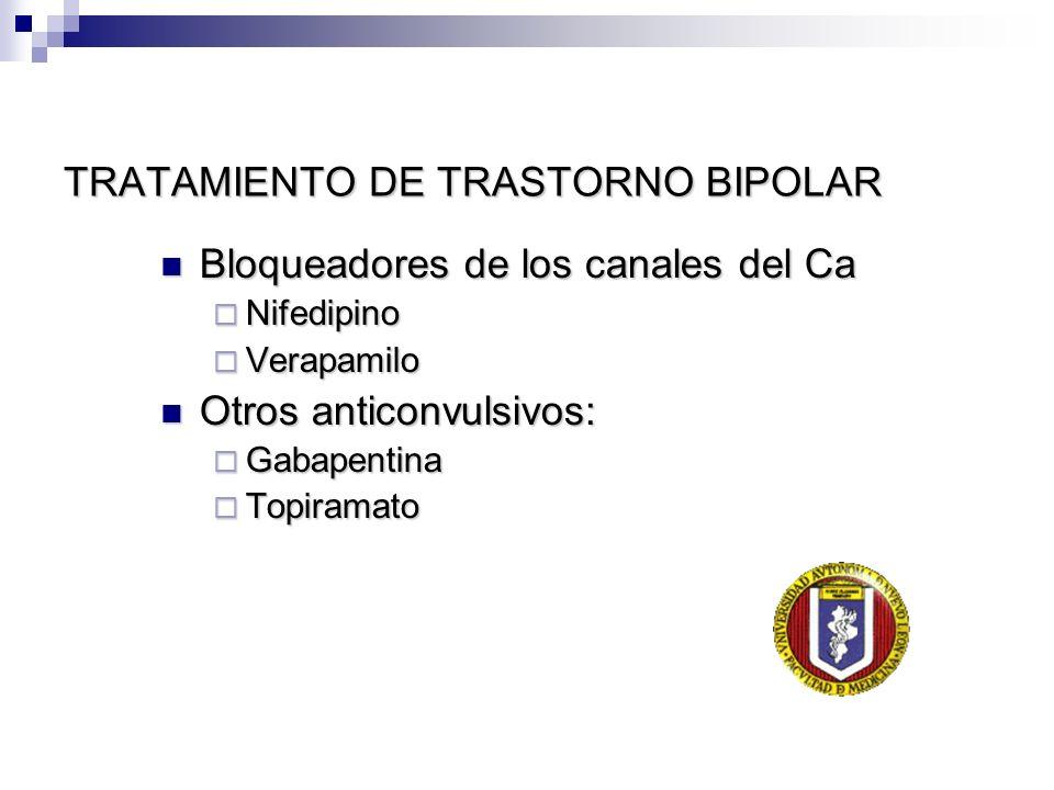TRATAMIENTO DE TRASTORNO BIPOLAR