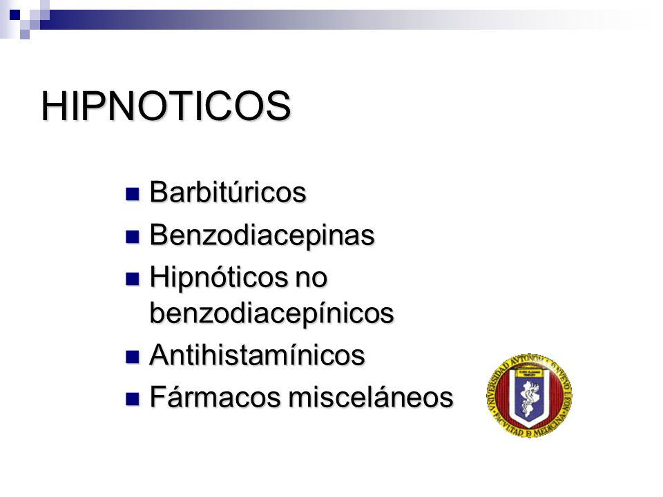 HIPNOTICOS Barbitúricos Benzodiacepinas