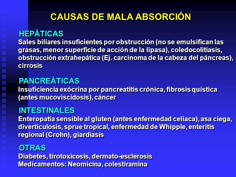 CAUSAS DE MALA ABSORCIÓN