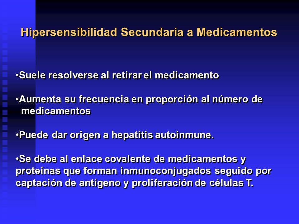 Hipersensibilidad Secundaria a Medicamentos