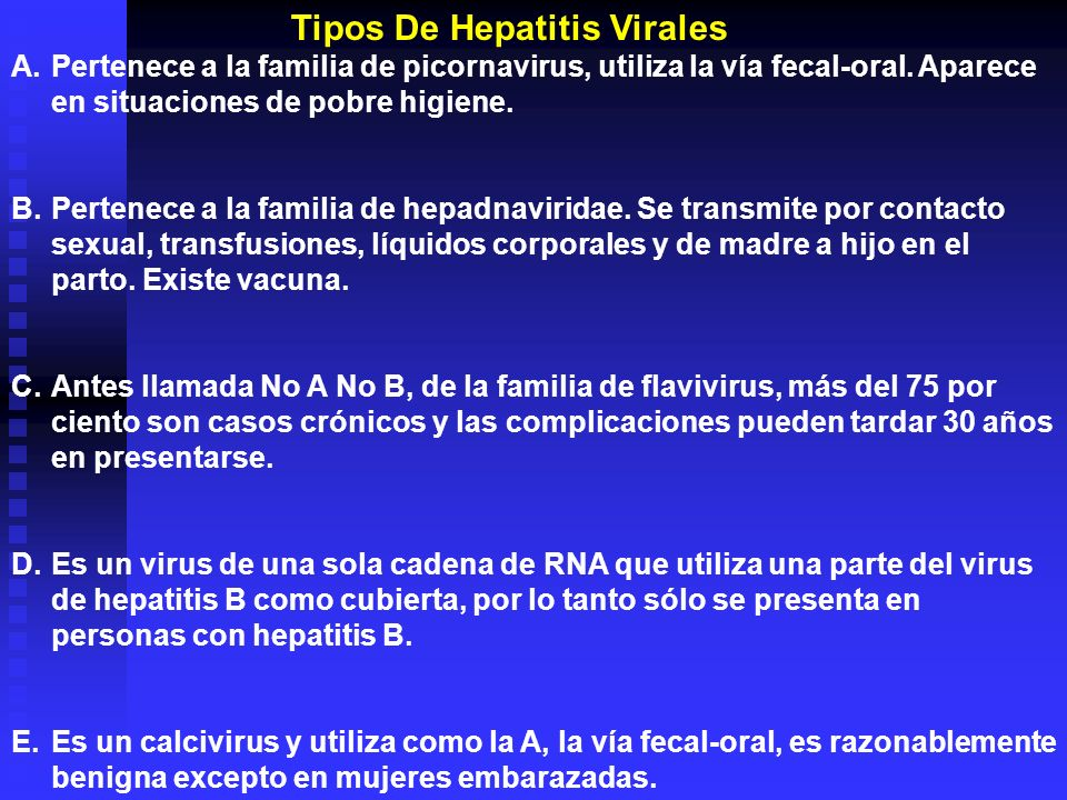 Tipos De Hepatitis Virales