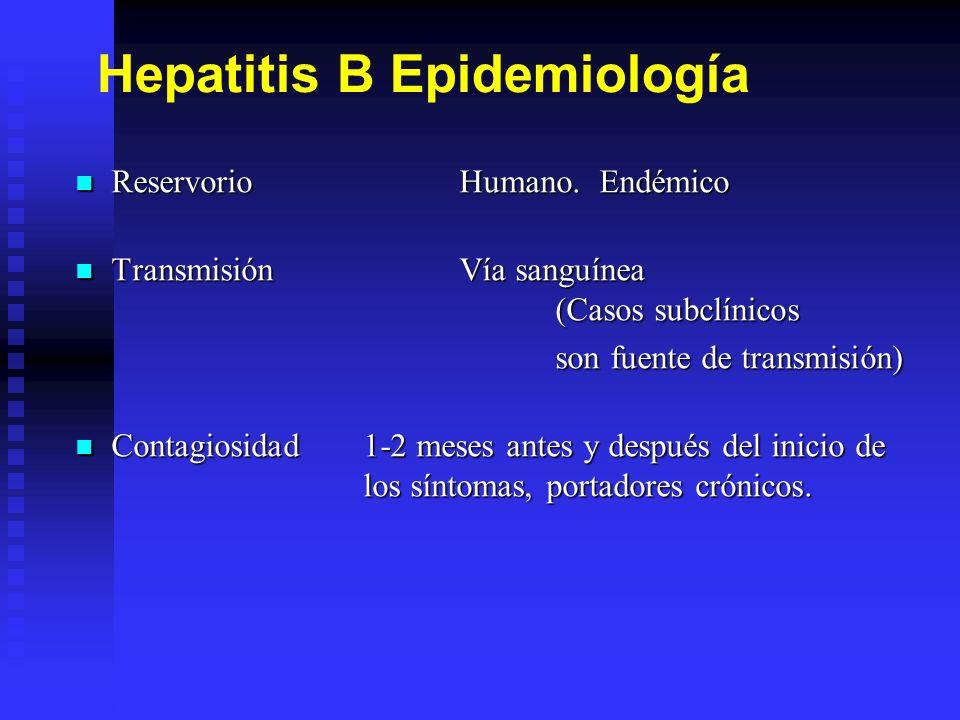 Hepatitis B Epidemiología