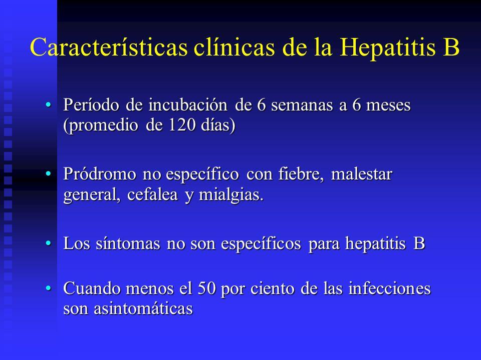 Características clínicas de la Hepatitis B