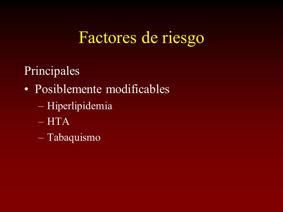 Factores de riesgo Principales Posiblemente modificables