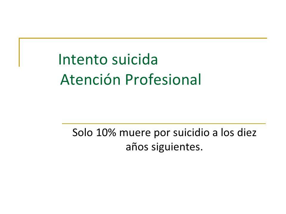 Intento suicida Atención Profesional