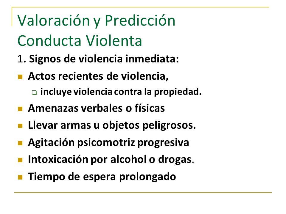 Valoración y Predicción Conducta Violenta