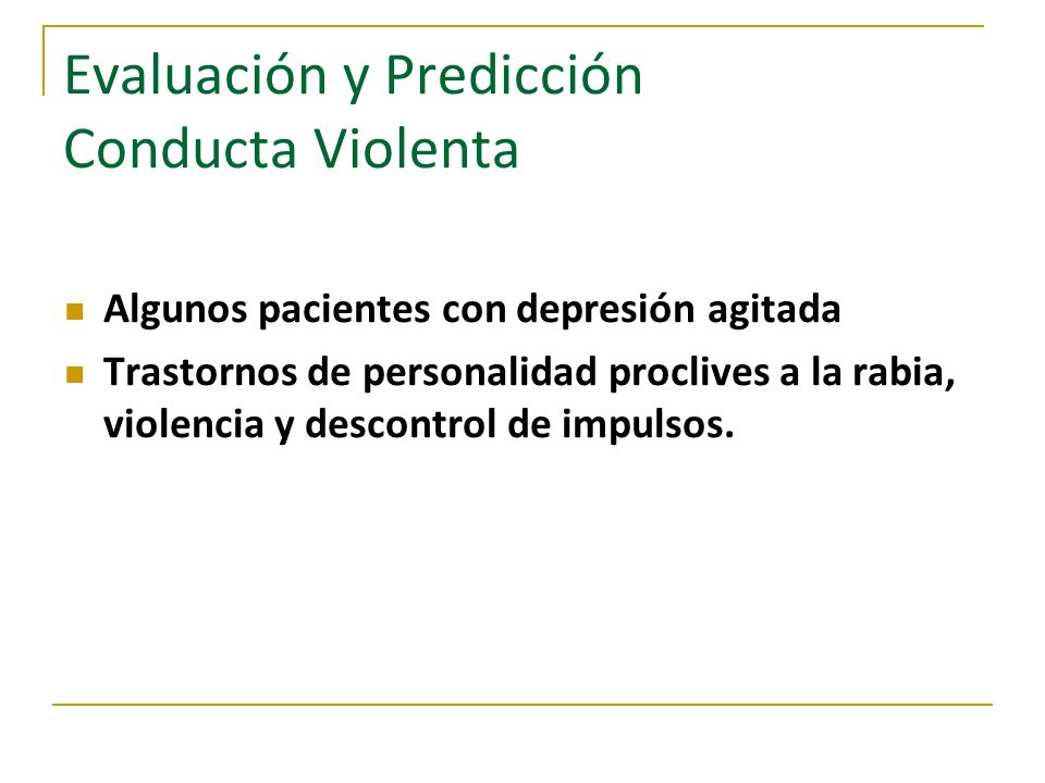 Evaluación y Predicción Conducta Violenta