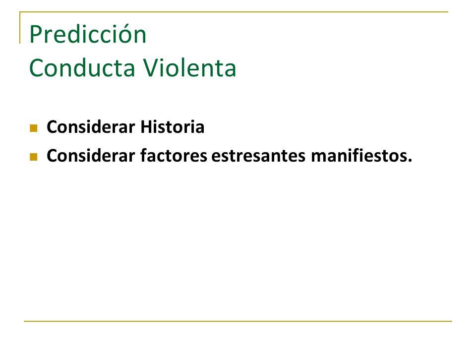 Predicción Conducta Violenta