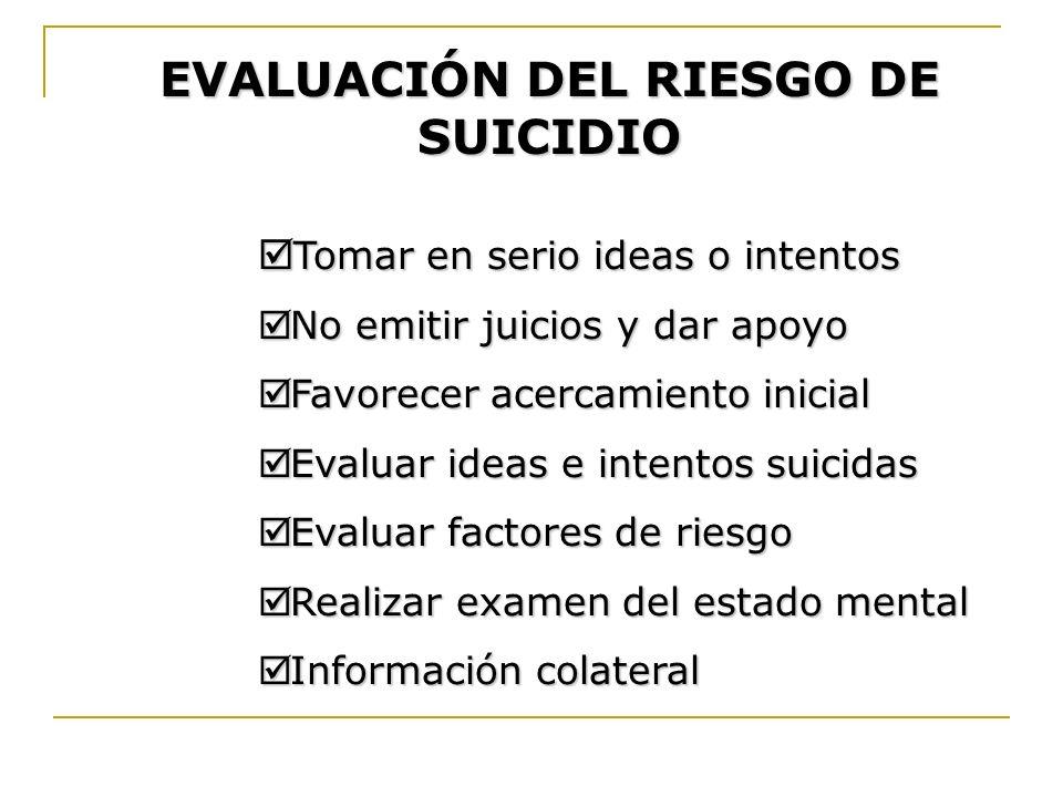 EVALUACIÓN DEL RIESGO DE SUICIDIO