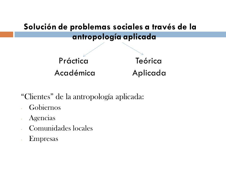 Solución de problemas sociales a través de la antropología aplicada