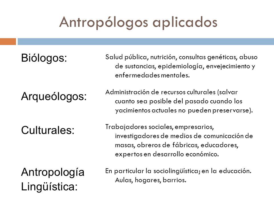 Antropólogos aplicados