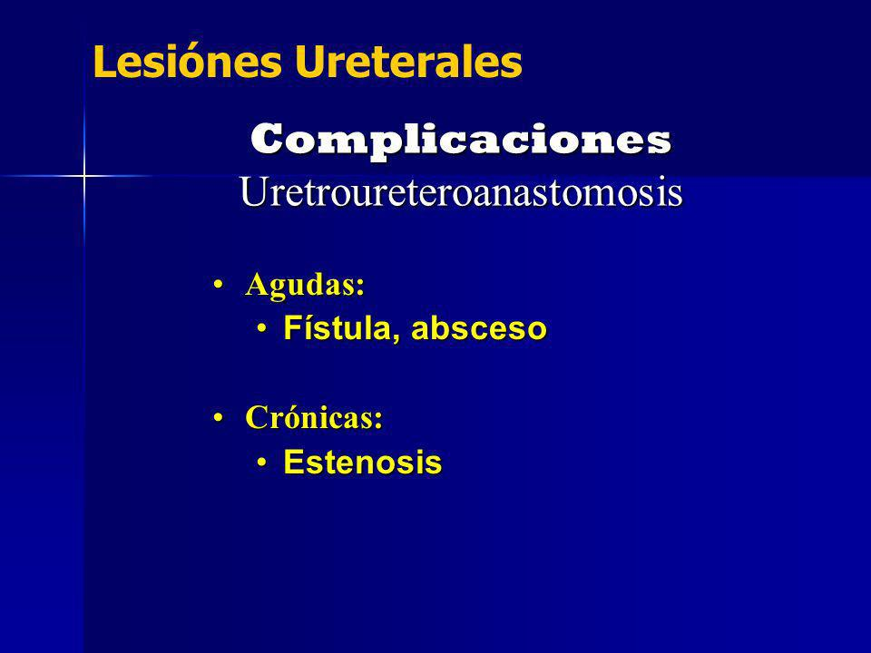 Complicaciones Uretroureteroanastomosis
