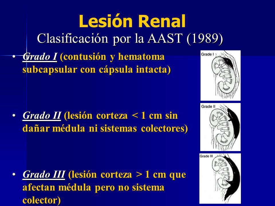 Clasificación por la AAST (1989)