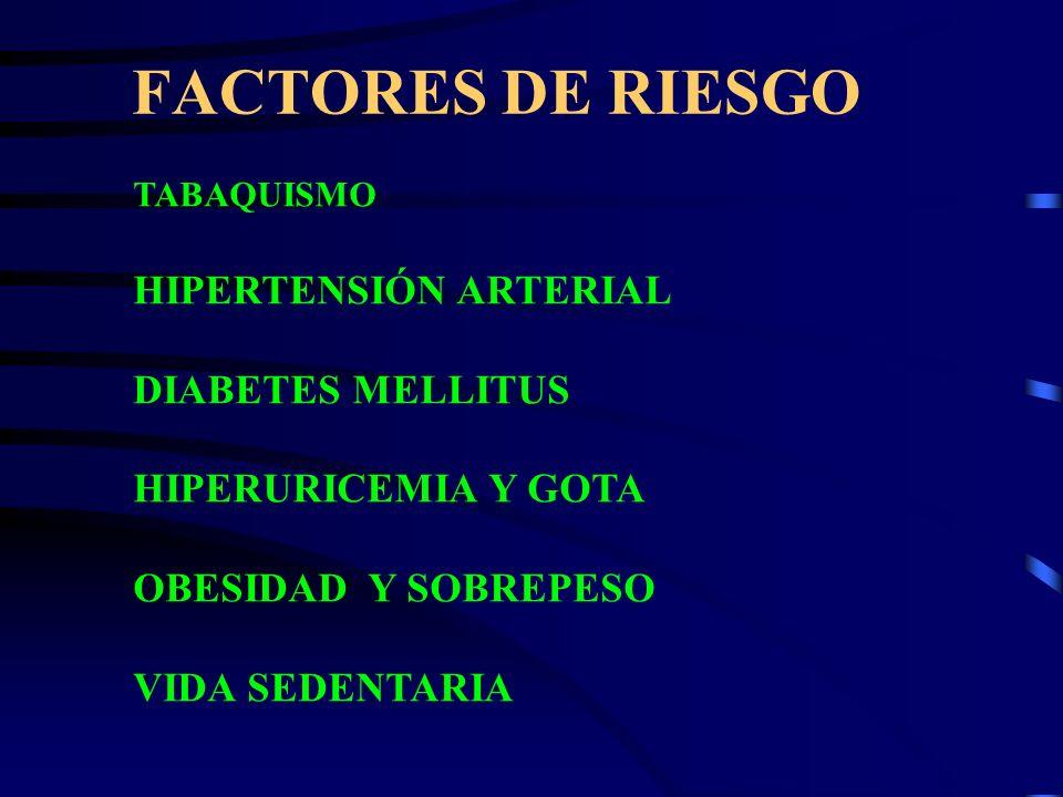 FACTORES DE RIESGO HIPERTENSIÓN ARTERIAL DIABETES MELLITUS