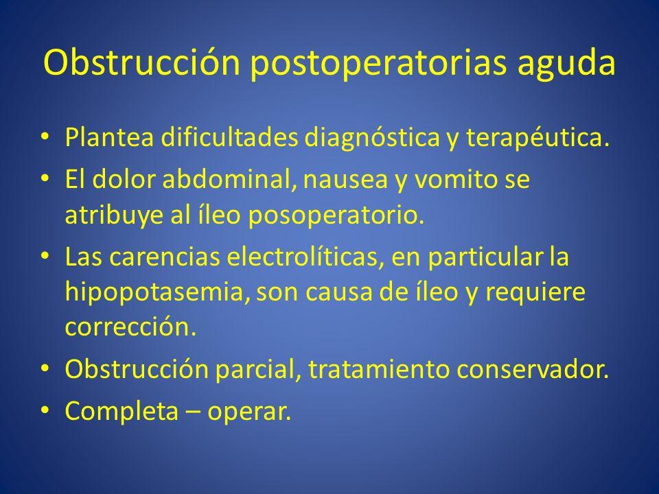 Obstrucción postoperatorias aguda