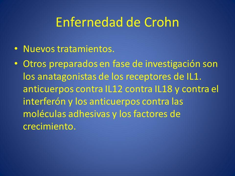 Enfernedad de Crohn Nuevos tratamientos.