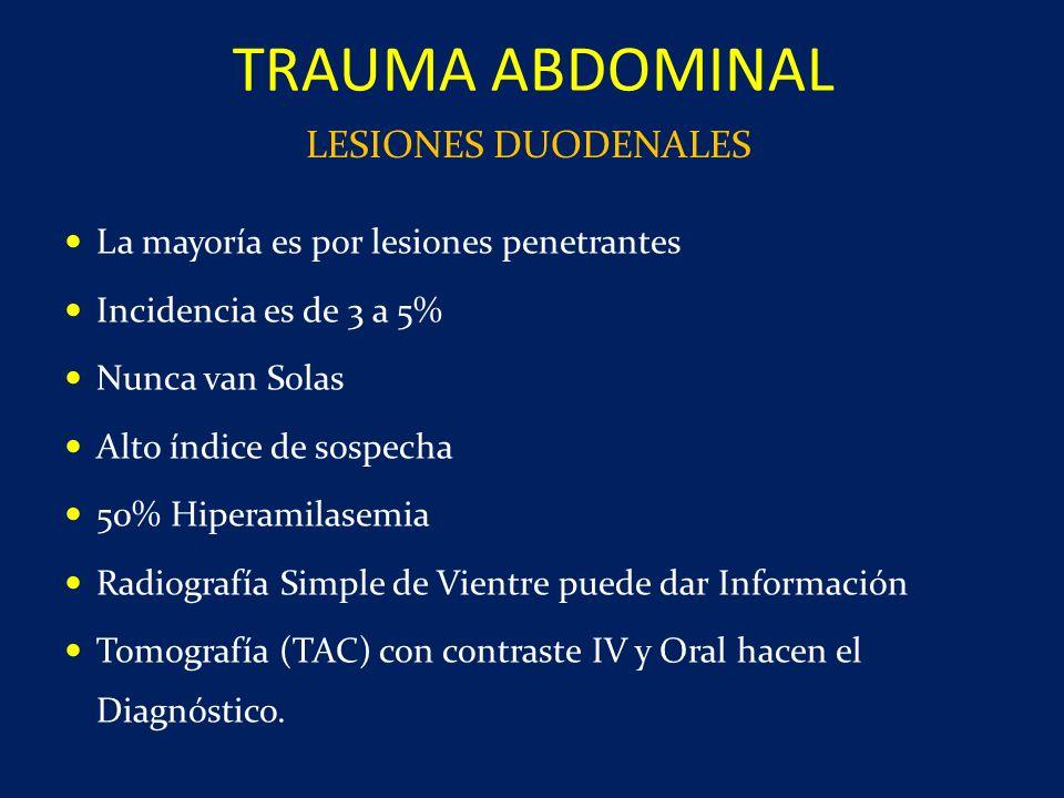 TRAUMA ABDOMINAL LESIONES DUODENALES