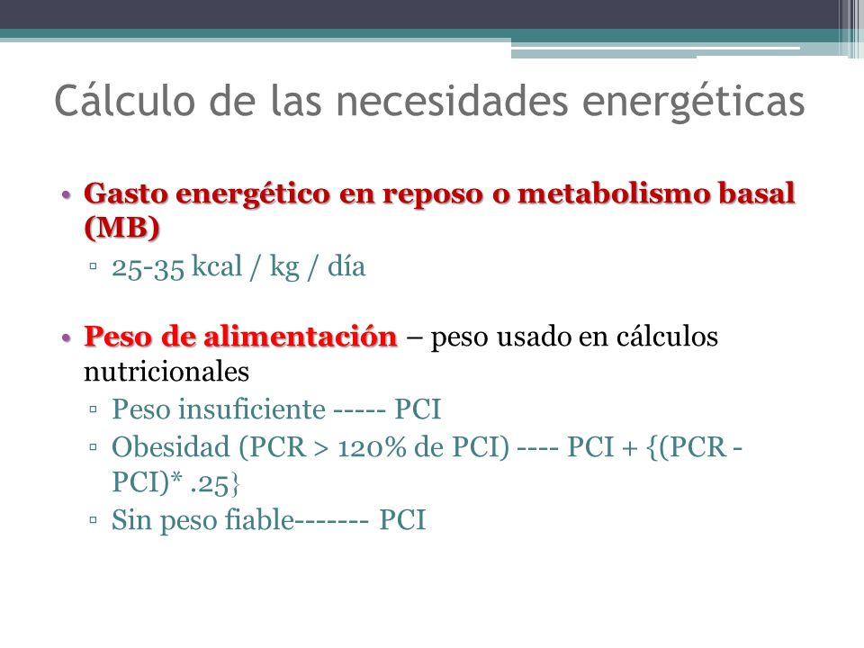 Cálculo de las necesidades energéticas