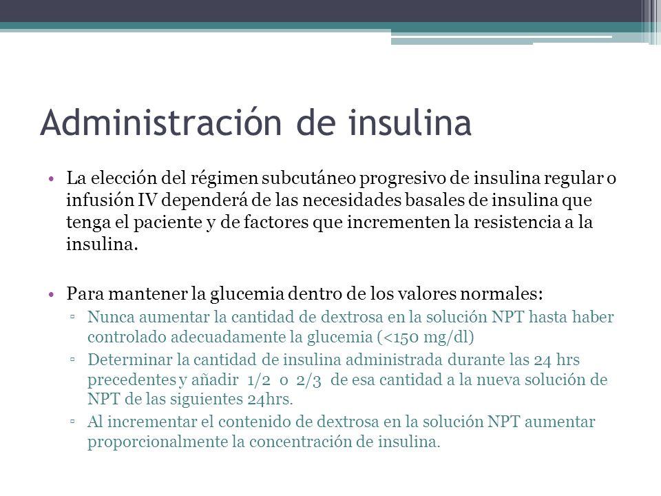 Administración de insulina