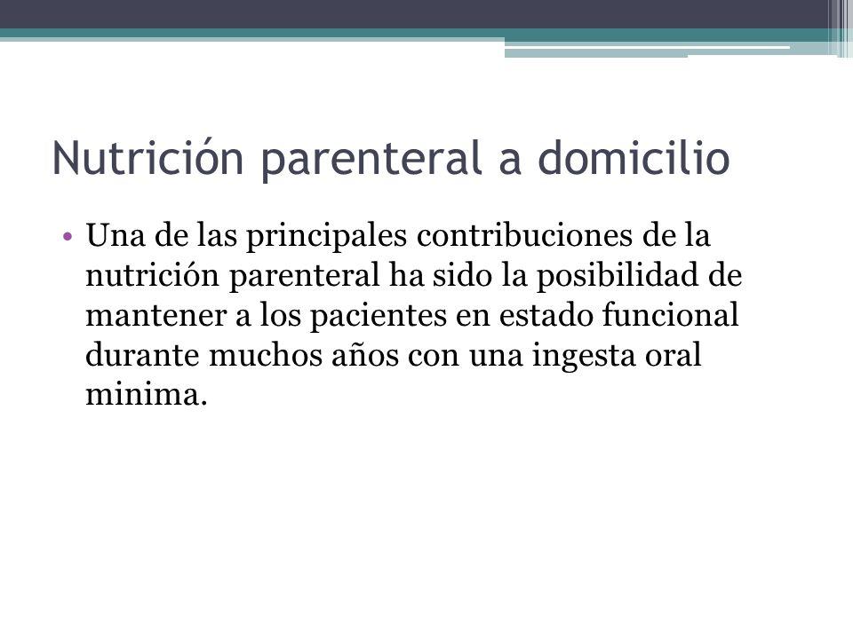 Nutrición parenteral a domicilio
