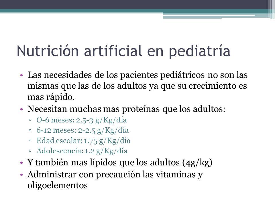 Nutrición artificial en pediatría
