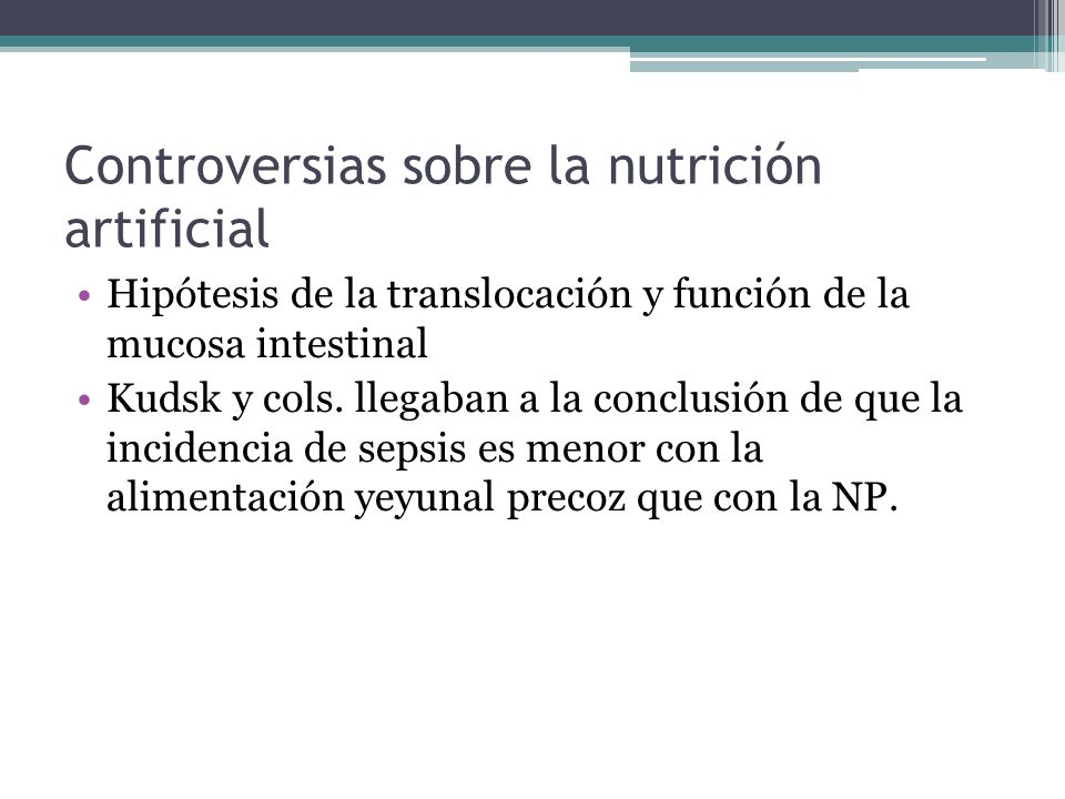 Controversias sobre la nutrición artificial