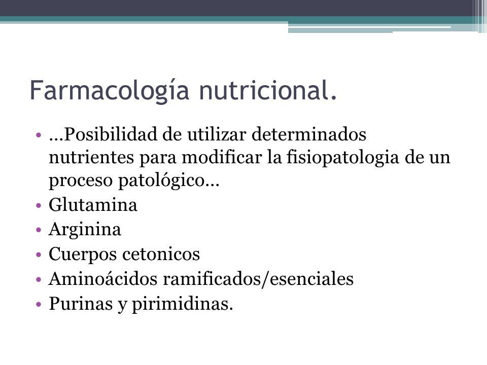 Farmacología nutricional.