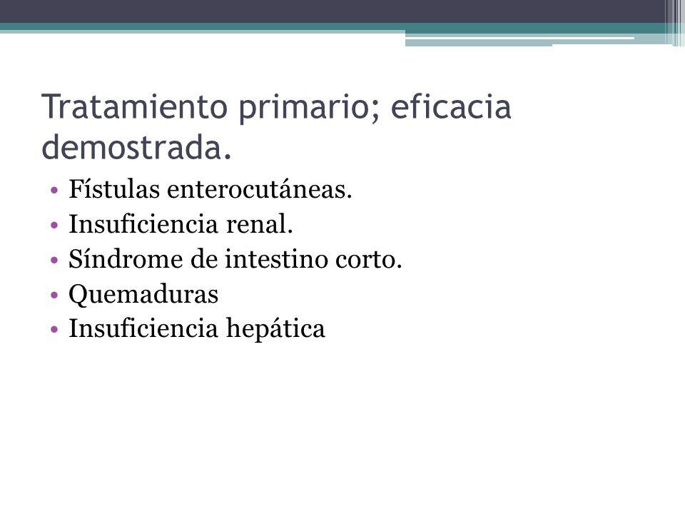 Tratamiento primario; eficacia demostrada.