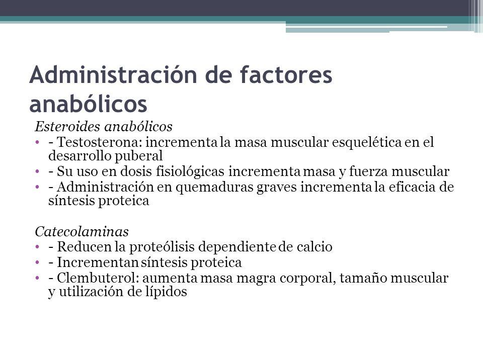 Administración de factores anabólicos