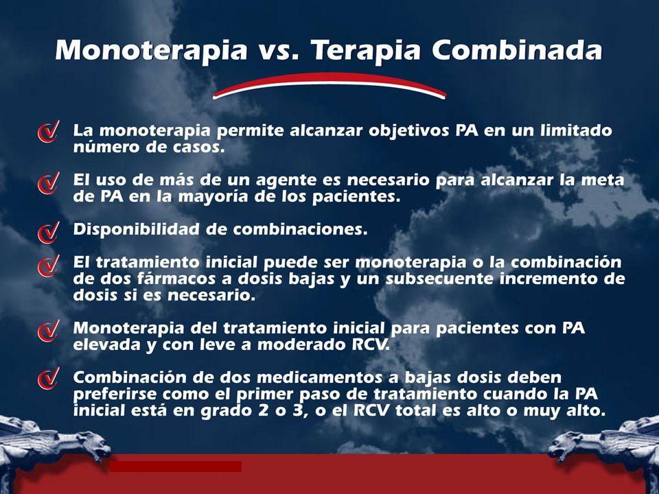 Monoterapia versus terapia combinada