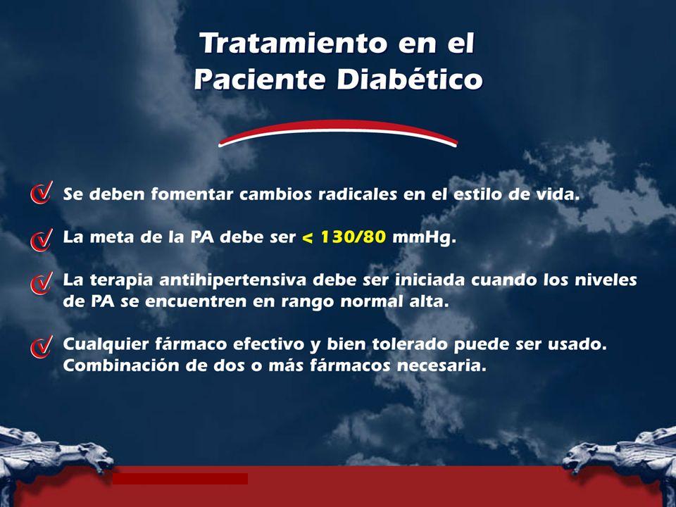 Cambios radicales en el estilo de vida deben ser fomentados en todos los pacientes diabéticos, especialmente la reducción y mantenimiento del peso y la disminución de la ingesta de sal.