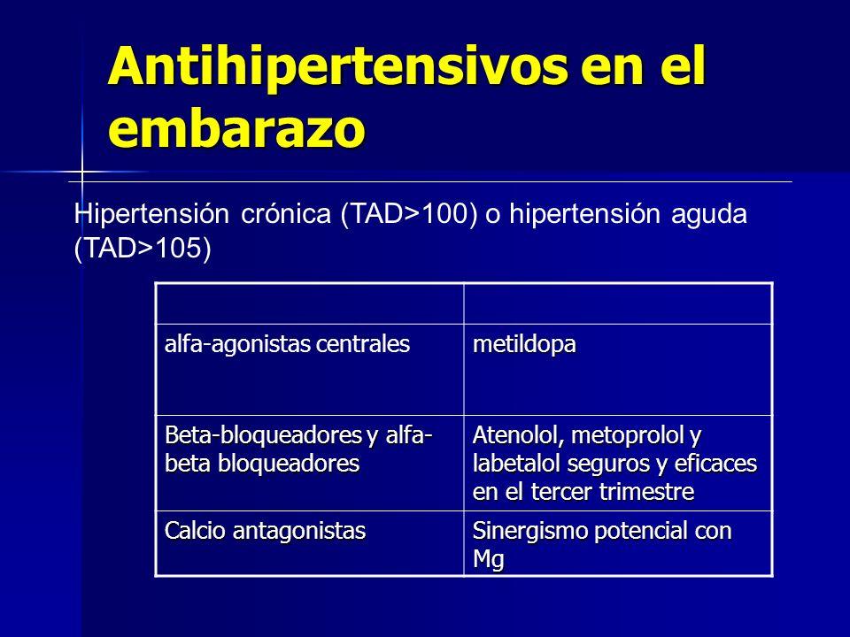 Antihipertensivos en el embarazo
