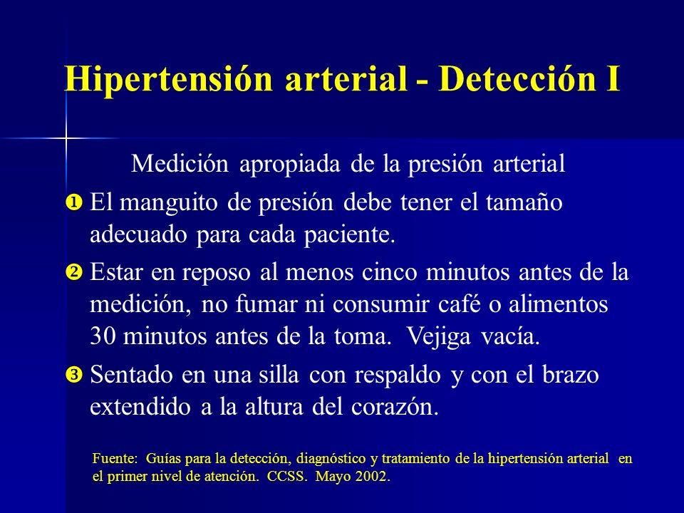 Hipertensión arterial - Detección I
