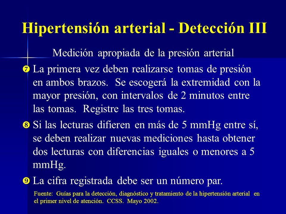 Hipertensión arterial - Detección III