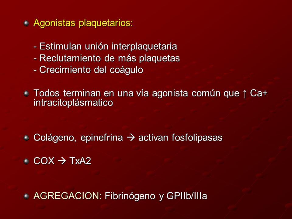 Agonistas plaquetarios: