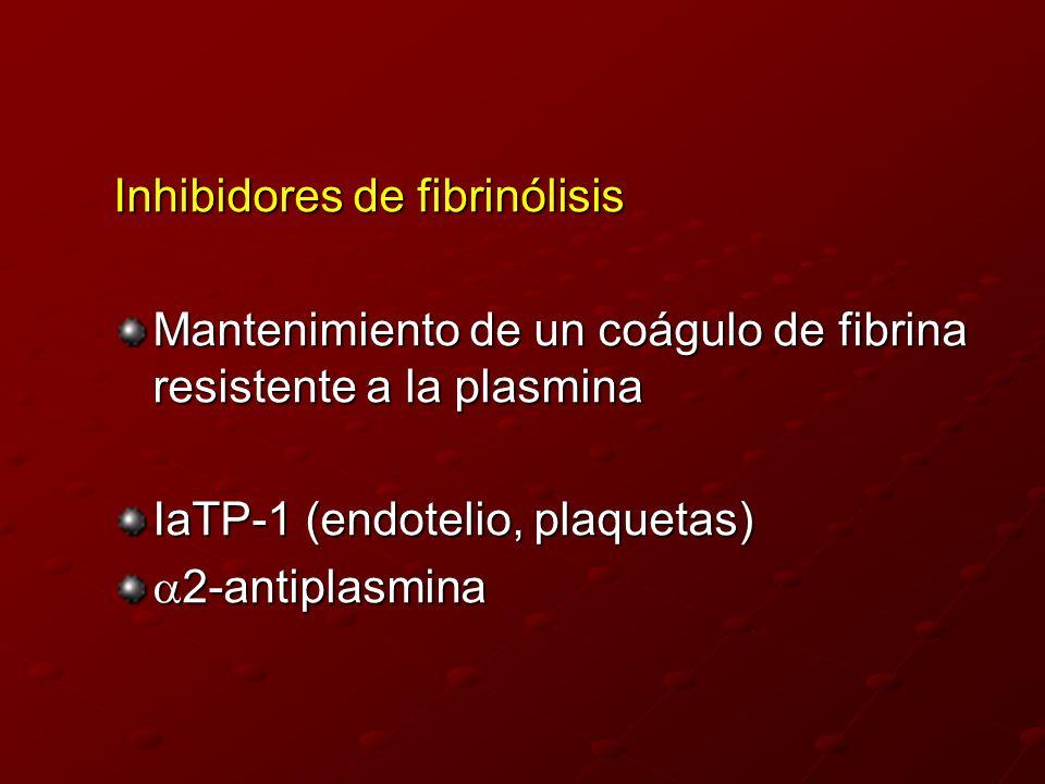 Inhibidores de fibrinólisis