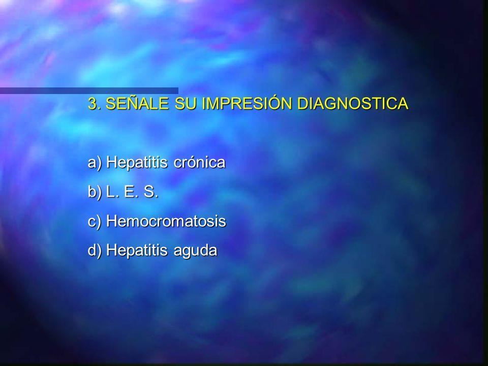 3. SEÑALE SU IMPRESIÓN DIAGNOSTICA