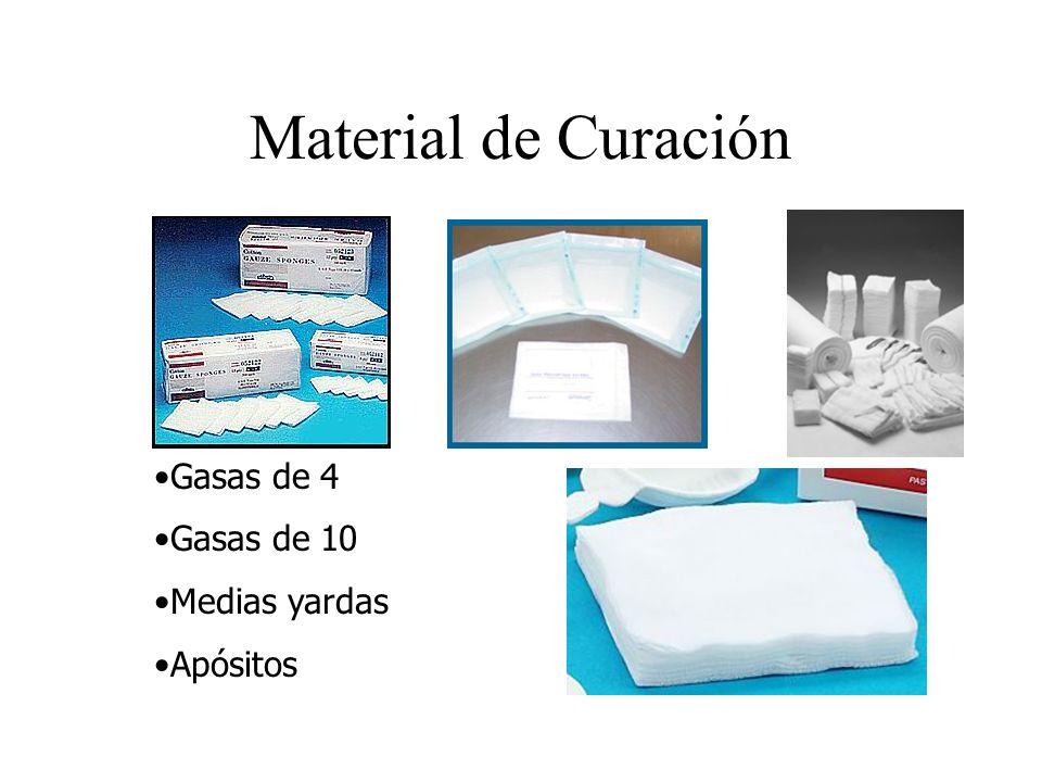 Material de Curación Gasas de 4 Gasas de 10 Medias yardas Apósitos
