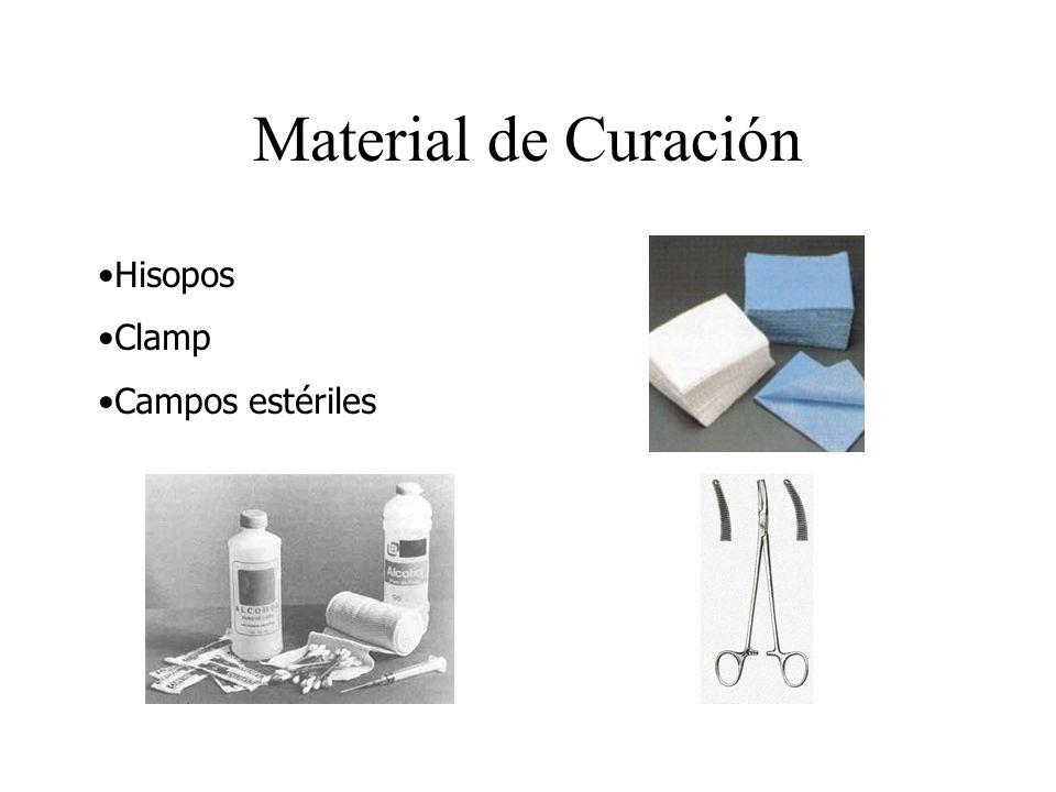 Material de Curación Hisopos Clamp Campos estériles