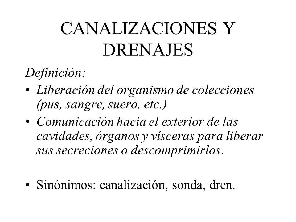 CANALIZACIONES Y DRENAJES
