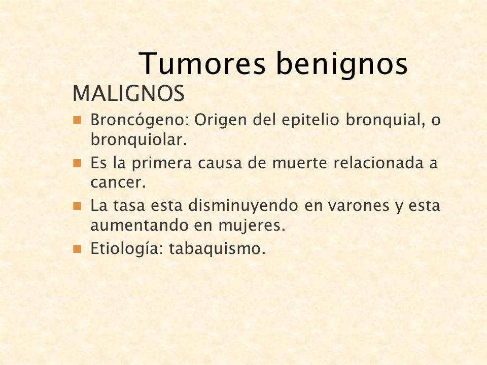 Tumores benignos MALIGNOS