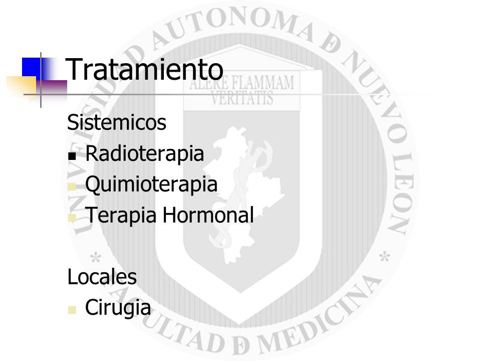 Tratamiento Sistemicos Radioterapia Quimioterapia Terapia Hormonal