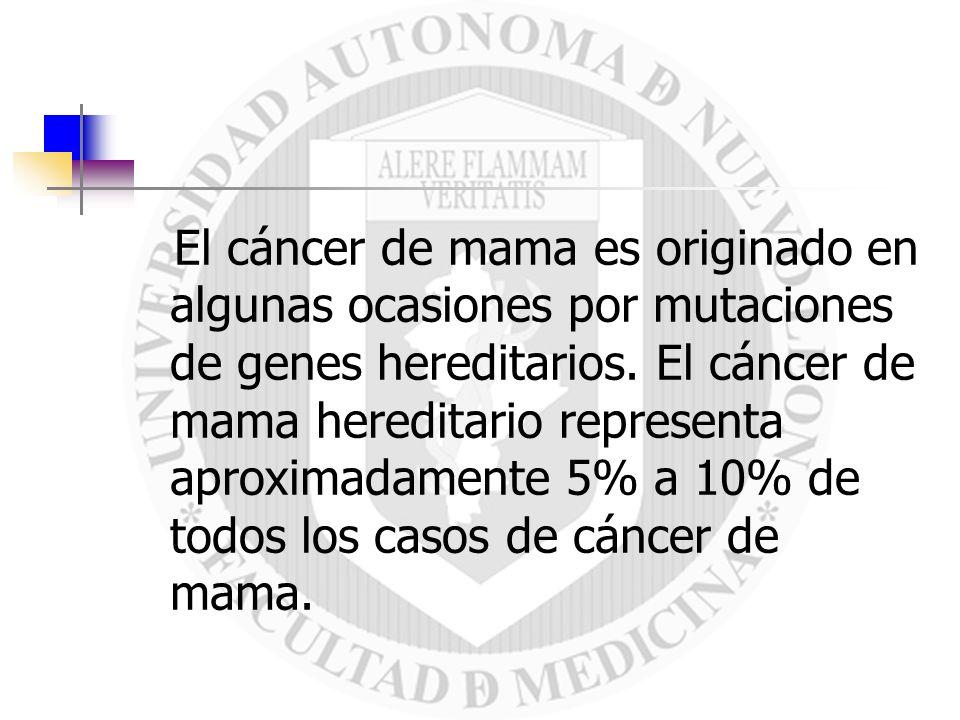 El cáncer de mama es originado en algunas ocasiones por mutaciones de genes hereditarios.