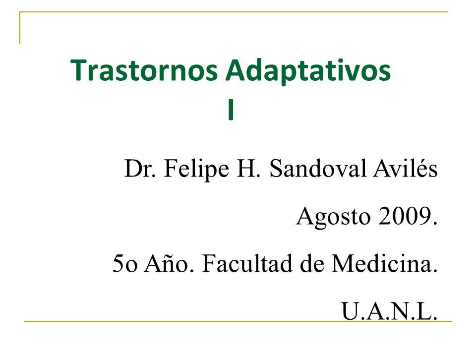 Trastornos Adaptativos I