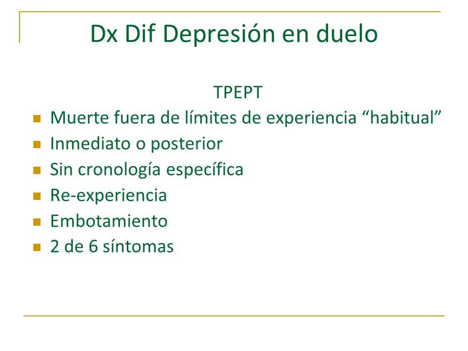 Dx Dif Depresión en duelo