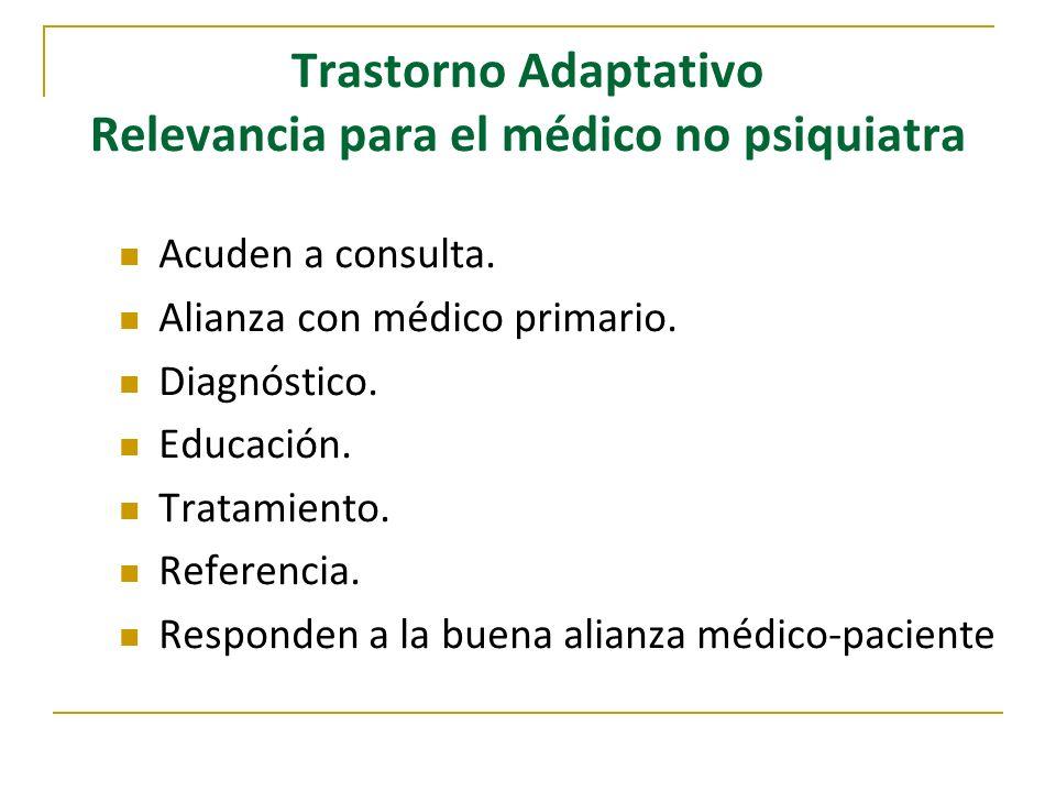 Trastorno Adaptativo Relevancia para el médico no psiquiatra