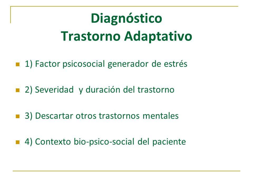 Diagnóstico Trastorno Adaptativo