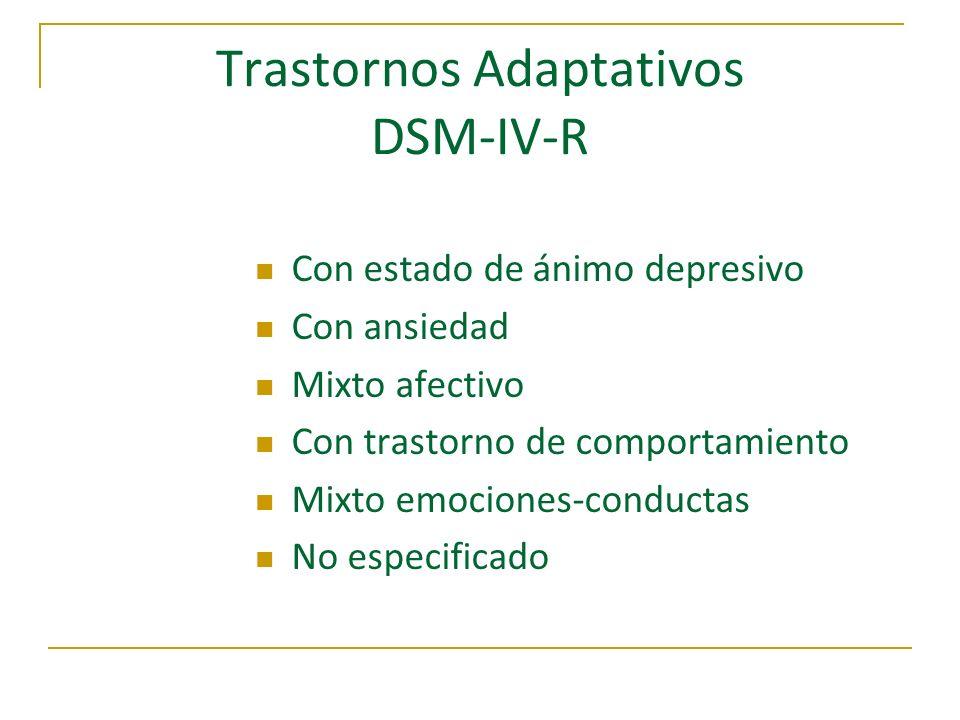 Trastornos Adaptativos DSM-IV-R